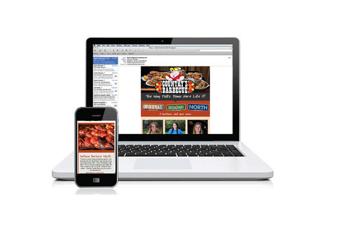 Email Marketing Campaign for Countrys Barbecue of Columbus, GA