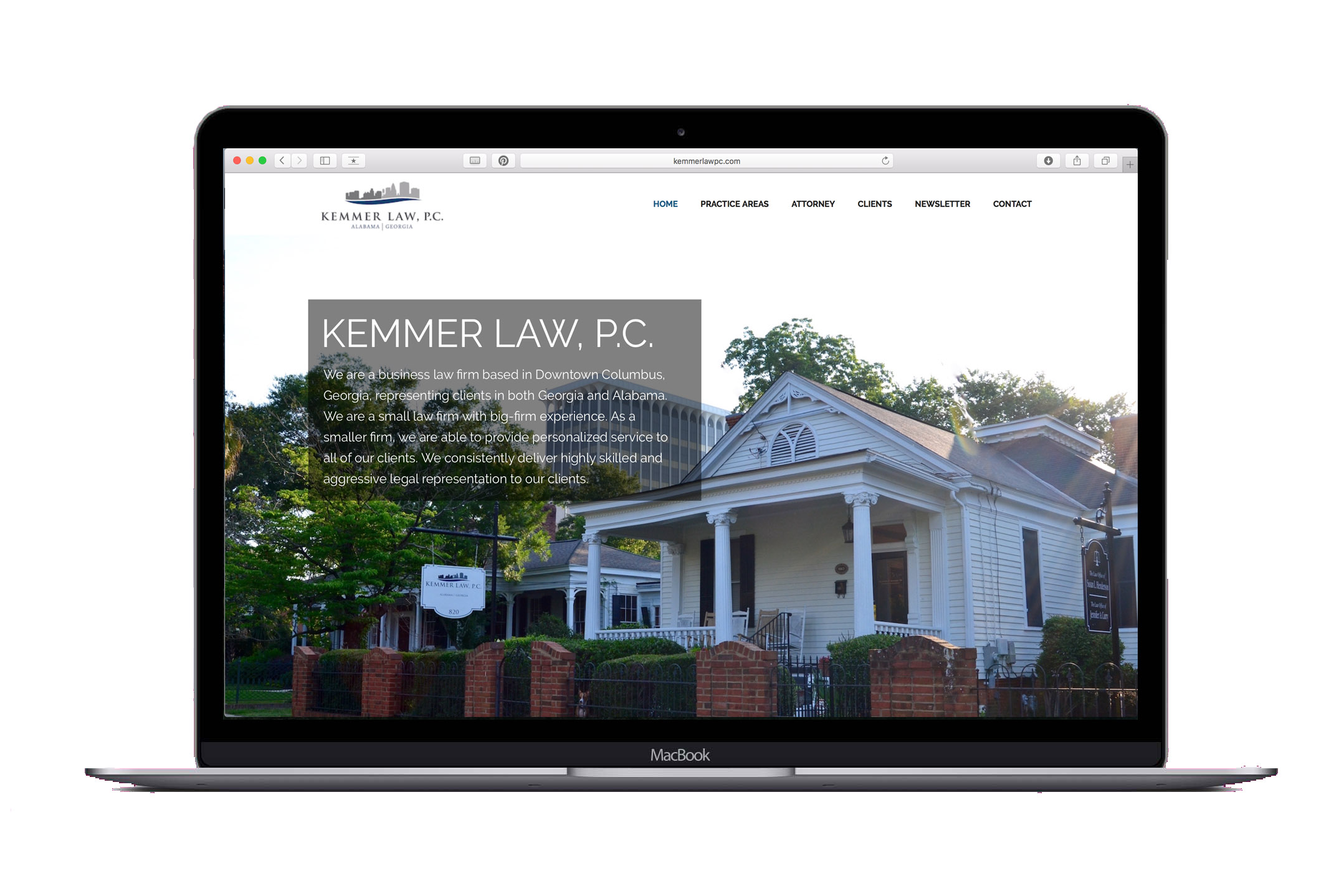 Website Design for Kemmer Law of Columbus, GA