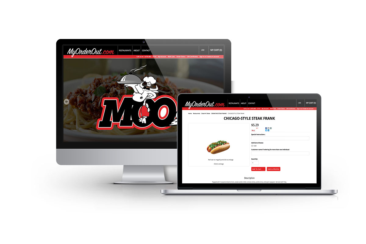 Ecommerce Web Design for MyOrderOut in Arkansas