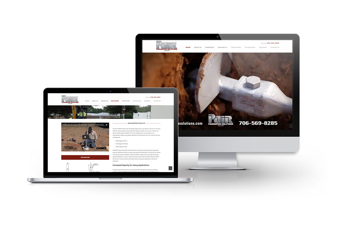 Website Design for Pair Foundation Solutions of Columbus, GA