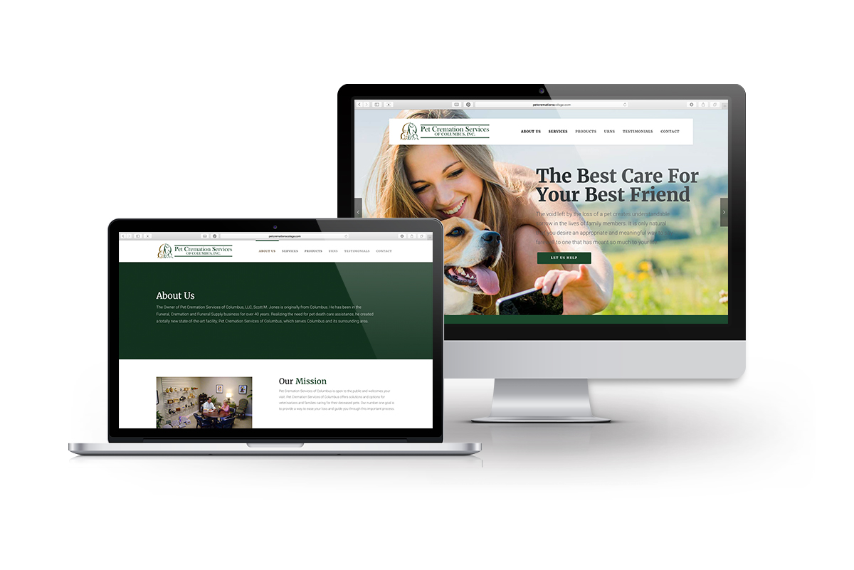 Web Design for Pet Cremation Service of Columbus, GA