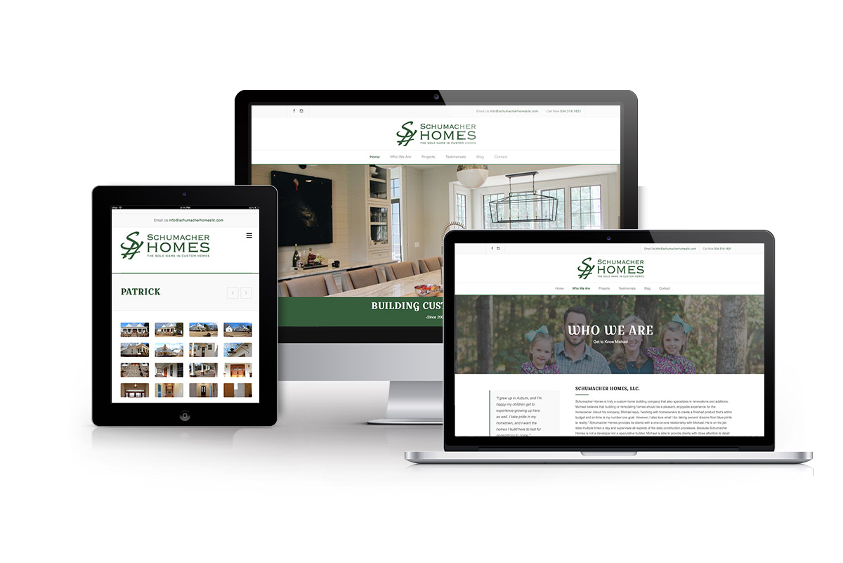Schumacher Homes Website Design Auburn Alabama