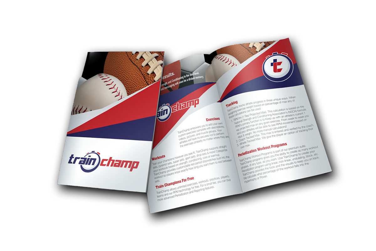 TrainChamp Brochure Print Design in Phenix City AL